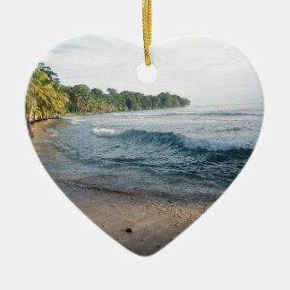 Tropical Island Ceramic Heart Decoration
