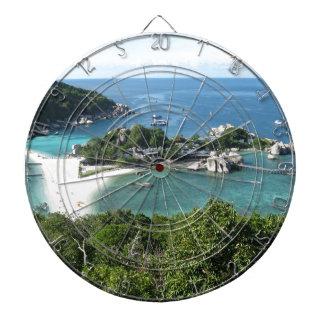 Tropical island dartboard