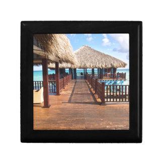 Tropical Island Dream Destination Small Square Gift Box