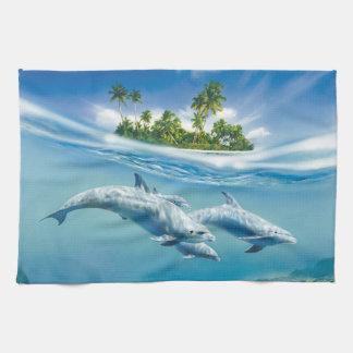 Tropical Island Fantasy Kitchen Towel