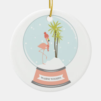 Tropical Island Flamingo Christmas - Pink Christmas Ornament