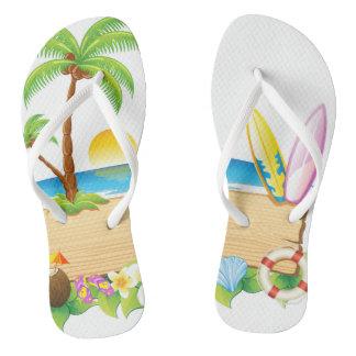 Tropical Island Flip Flops