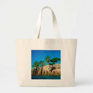 Tropical Island Found Seychelles Canvas Bags
