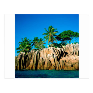 Tropical Island Found Seychelles Postcard