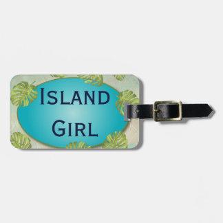 Tropical Island Girl Bachelorette Weekend Luggage Tag
