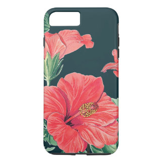Tropical Island Hibiscus Flowers iPhone 7 Case