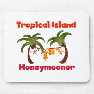 Tropical Island Honeymooner Mouse Pad