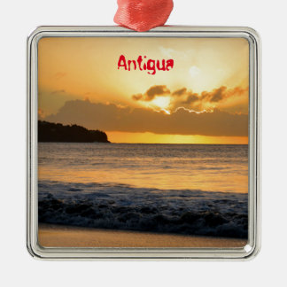 Tropical island in Antigua Christmas Ornament
