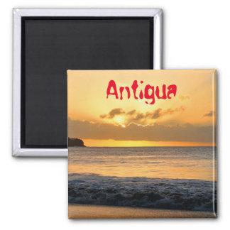 Tropical island in Antigua Magnet