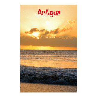 Tropical island in Antigua Personalised Stationery