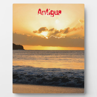Tropical island in Antigua Plaque