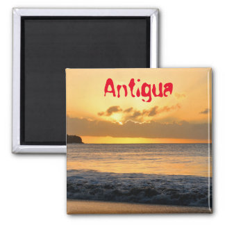 Tropical island in Antigua Square Magnet