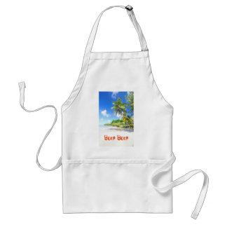 Tropical island in Bora Bora Standard Apron