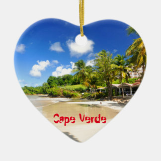 Tropical island in Cape Verde Christmas Ornament