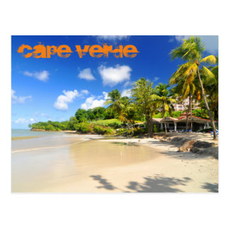 Tropical island in Cape Verde Postcard