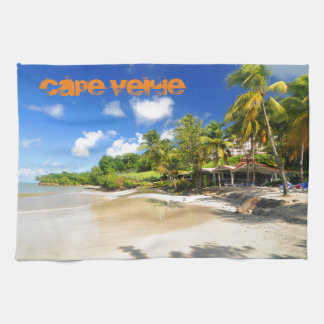 Tropical island in Cape Verde Tea Towel