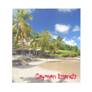 Tropical island in Cayman Islands Notepad