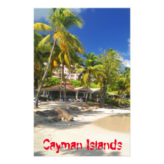 Tropical island in Cayman Islands Personalised Stationery