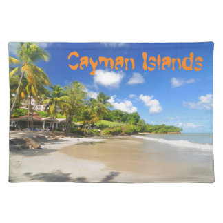 Tropical island in Cayman Islands Placemat