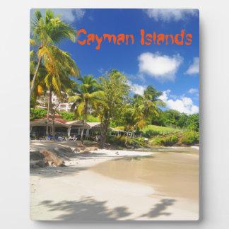 Tropical island in Cayman Islands Plaque