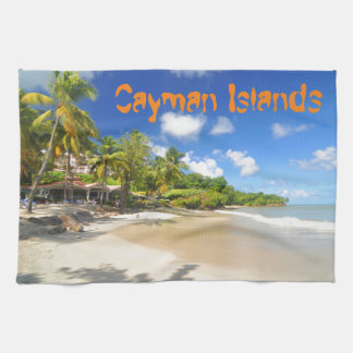 Tropical island in Cayman Islands Tea Towel