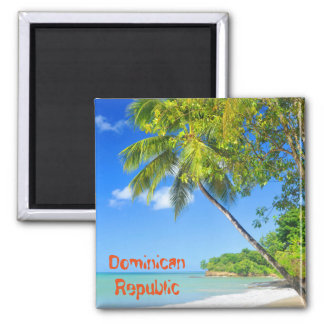 Tropical island in Dominican Republic Square Magnet