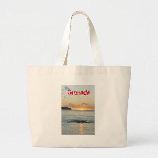 Tropical island in Grenada Large Tote Bag