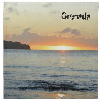 Tropical island in Grenada Napkin