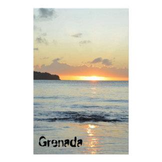 Tropical island in Grenada Stationery
