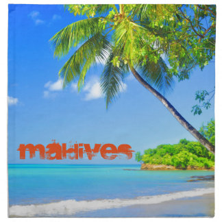 Tropical island in Maldives Napkin