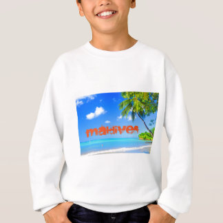 Tropical island in Maldives Sweatshirt