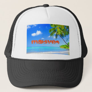 Tropical island in Maldives Trucker Hat