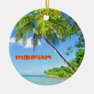 Tropical island in Mauritius Christmas Ornament