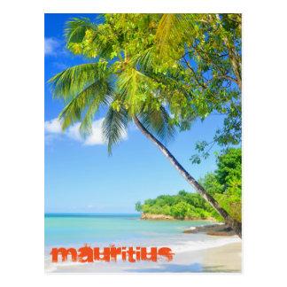 Tropical island in Mauritius Postcard