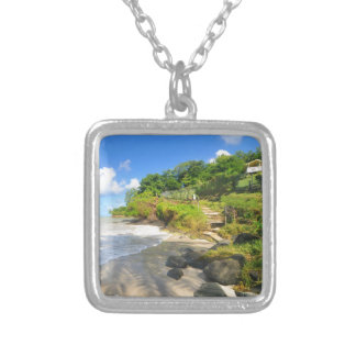 Tropical island in Puerto Rico Silver Plated Necklace