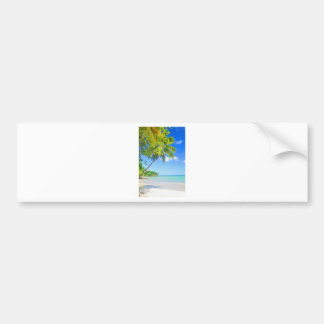 Tropical island in Seychelles Bumper Sticker