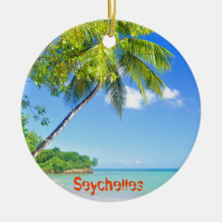 Tropical island in Seychelles Christmas Ornament
