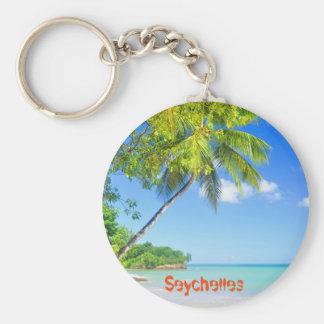 Tropical island in Seychelles Key Ring