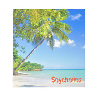 Tropical island in Seychelles Notepad