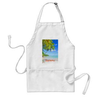 Tropical island in Seychelles Standard Apron