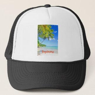 Tropical island in Seychelles Trucker Hat