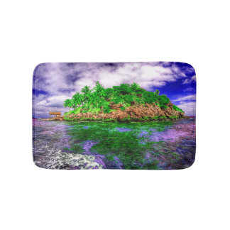 Tropical Island Oasis Bath Mat