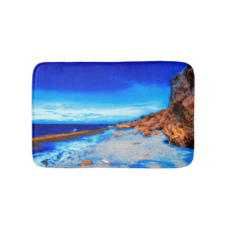 Tropical Island on Rocky Beach Bath Mat