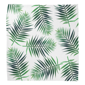 Tropical Island Palm Leaves Bandana