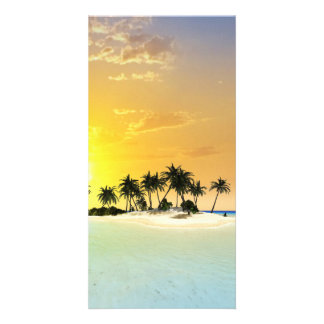 Tropical island photo card