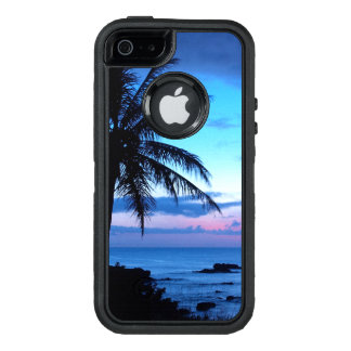 Tropical Island Pretty Pink Blue Sunset Landscape OtterBox iPhone 5/5s/SE Case