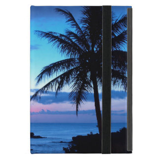Tropical Island Pretty Pink Blue Sunset Photo Covers For iPad Mini