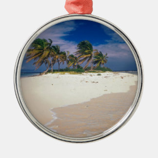 Tropical Island Sandy Anguilla Christmas Ornament