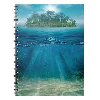Tropical Island Seabottom Notebook