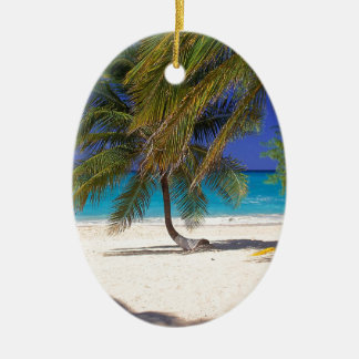 Tropical Island Seven Mile Grand Cayman Ceramic Oval Decoration
